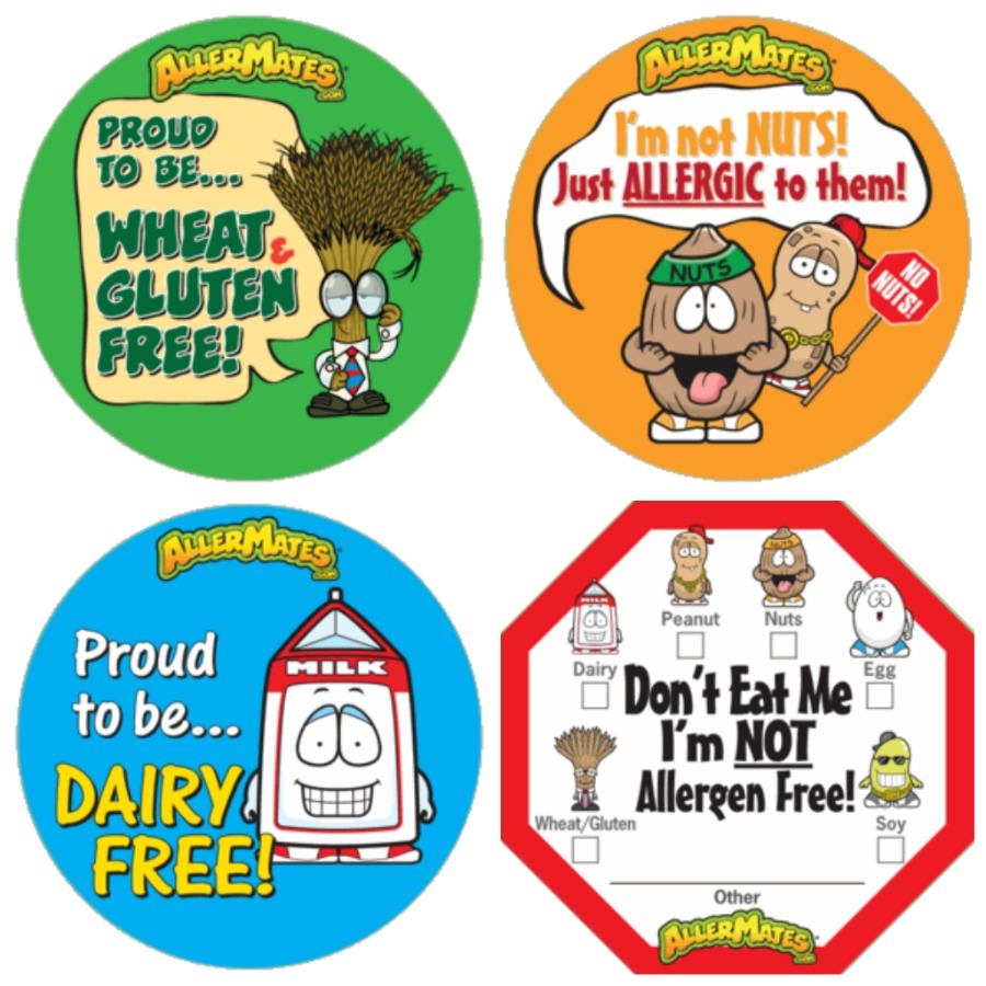 AllerMates allergy stickers