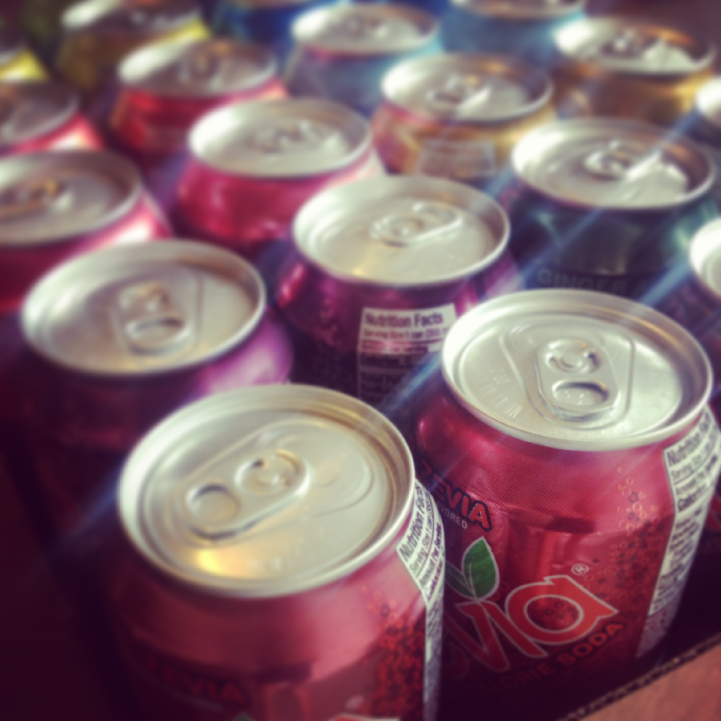 This beautiful rainbow case of Zevia can be yours!