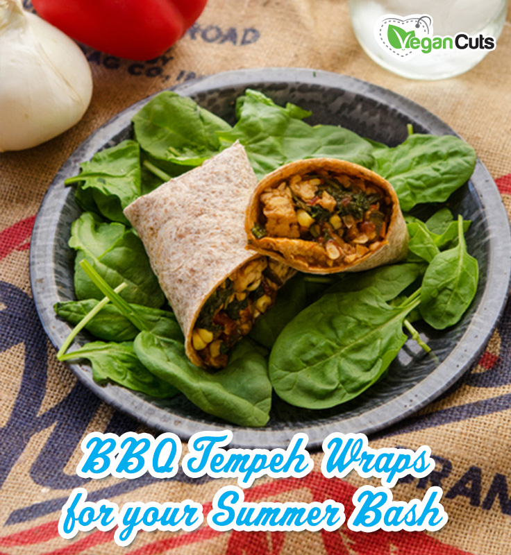 BBQ Tempeh Wraps for your Summer Bash