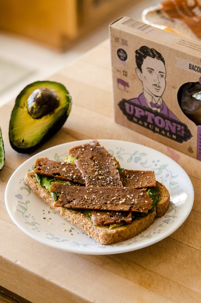 uptons seitan bacon toast