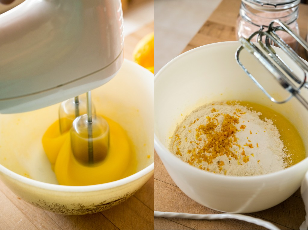 Mixing Lemon Bundt Batter