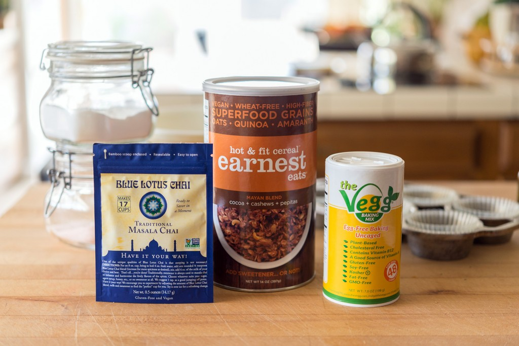 Blue Lotus Chai, Earnest Eats Oats, Vegg Baking Mix