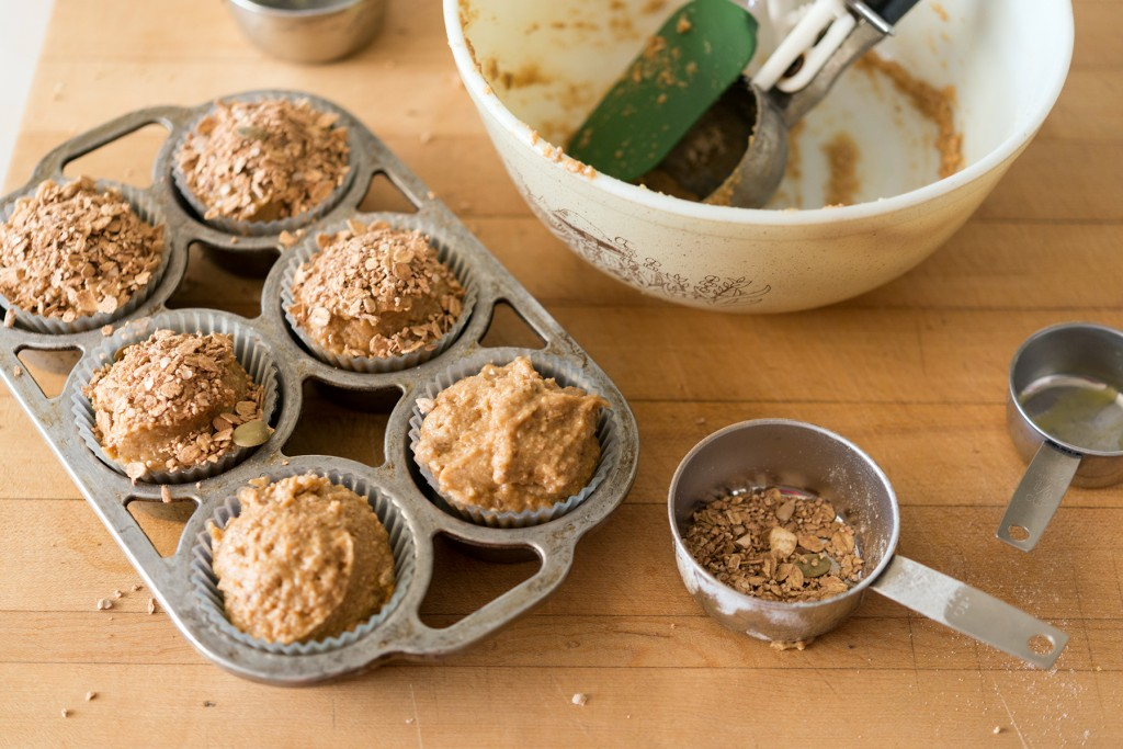 Topping Chai Oatmeal Muffins