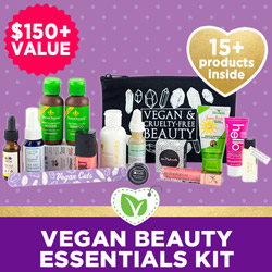 Vegan Beauty Essentials Kit - $150+ Value, 15+ Products Inside