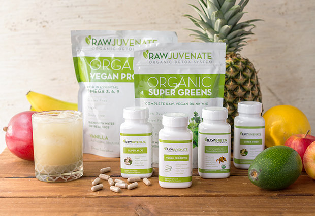 Rawjuvenate, vegan detox, super greens